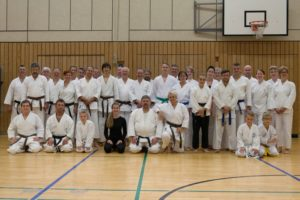 Karate-Lehrgang Gruppenbild